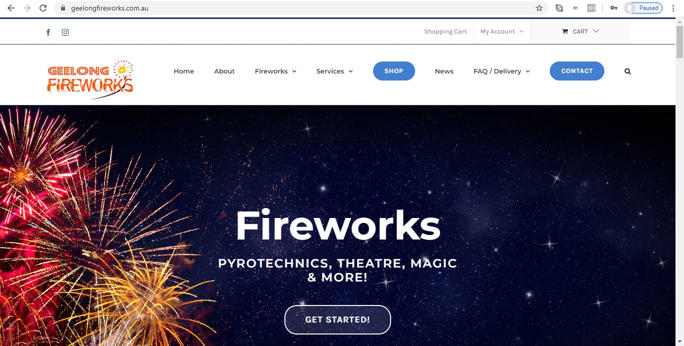 Geelong Fireworks - New Website - Home Page Banner