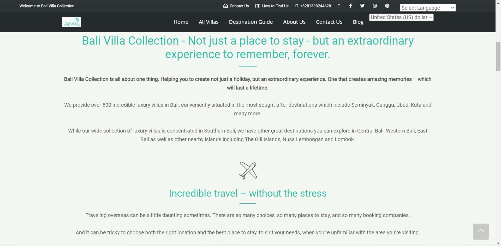 Bali Villa Collection - Home Page