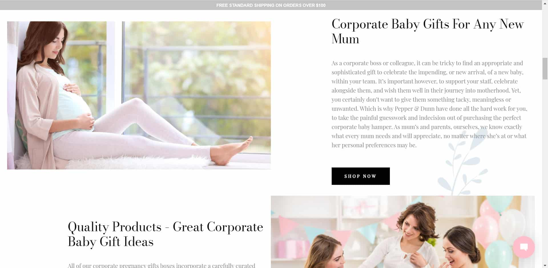 Pepper and Dunn - Corporate Landing Page