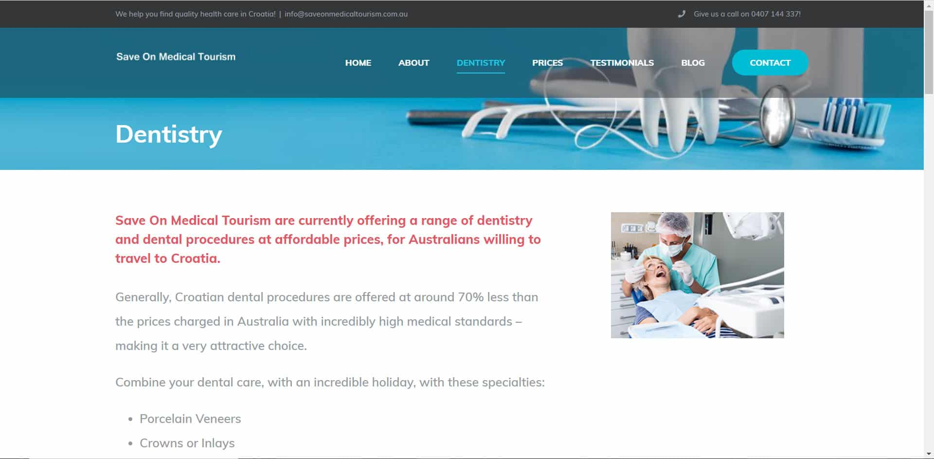 Save on Medical Tourism - Dentistry Page