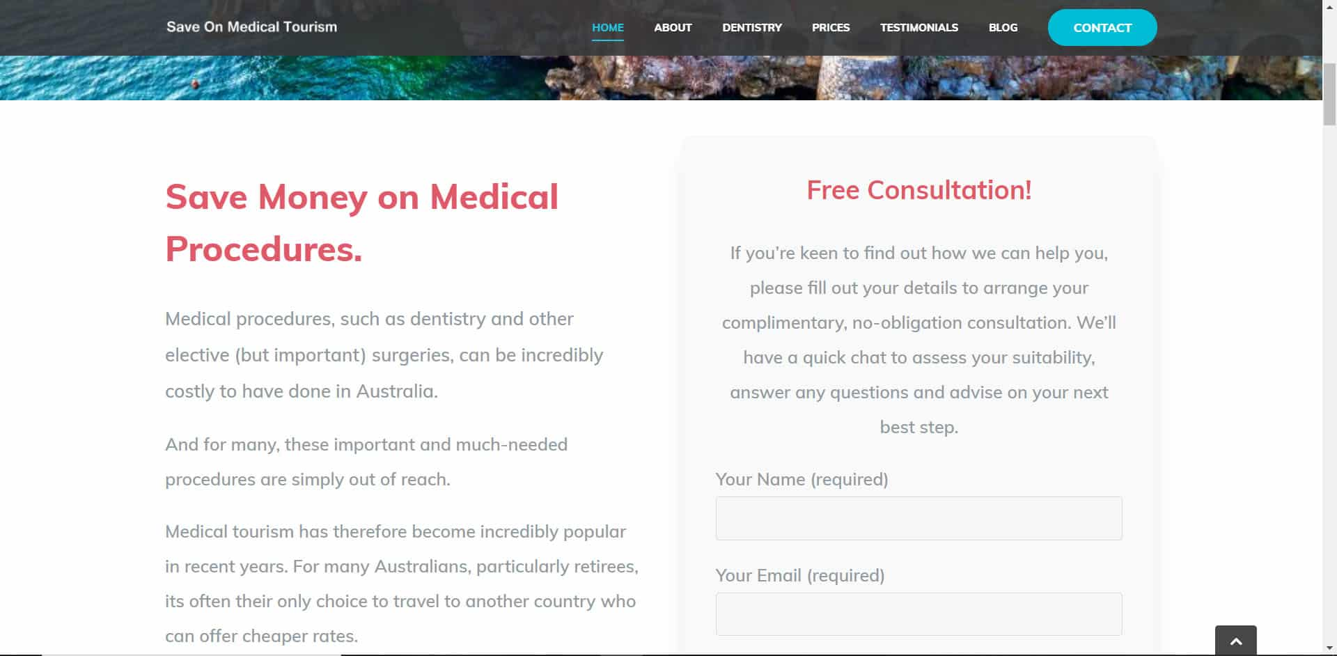 Save on Medical Tourism - Home Page Sample 2