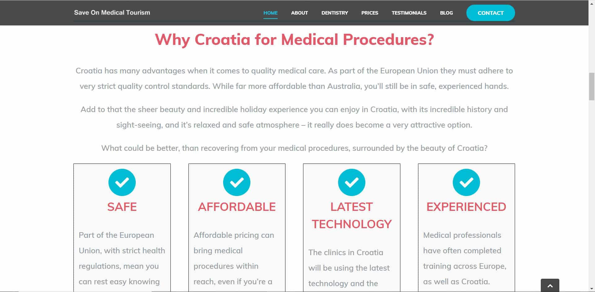 Save on Medical Tourism - Home Page Sample 1