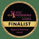 Regional Business Award Finalist - AusMumpreneur 2020 - The Rural Copywriter (Sarah Walkerden)