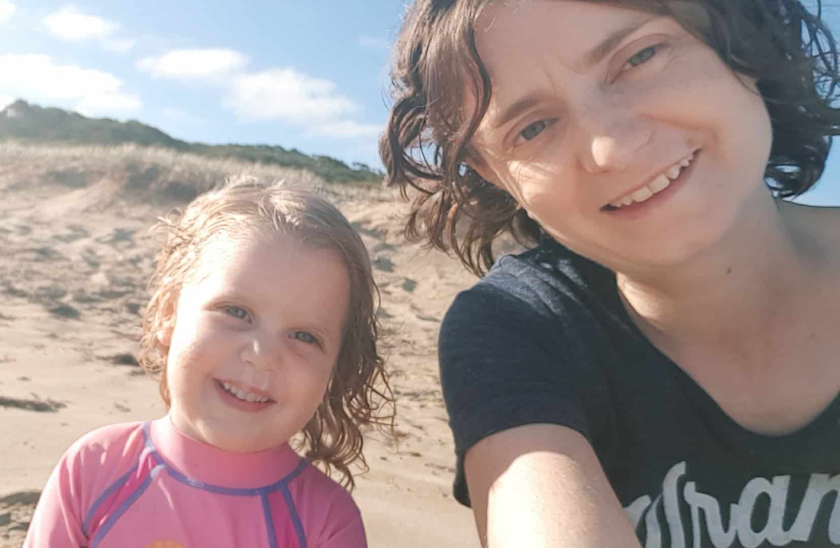 Sarah & Sophie At The Beach - The Rural Copywriter