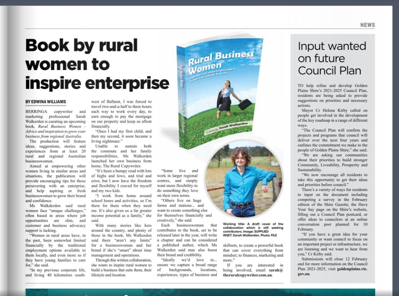 Rural Womens Book Project - Golden Plains Times