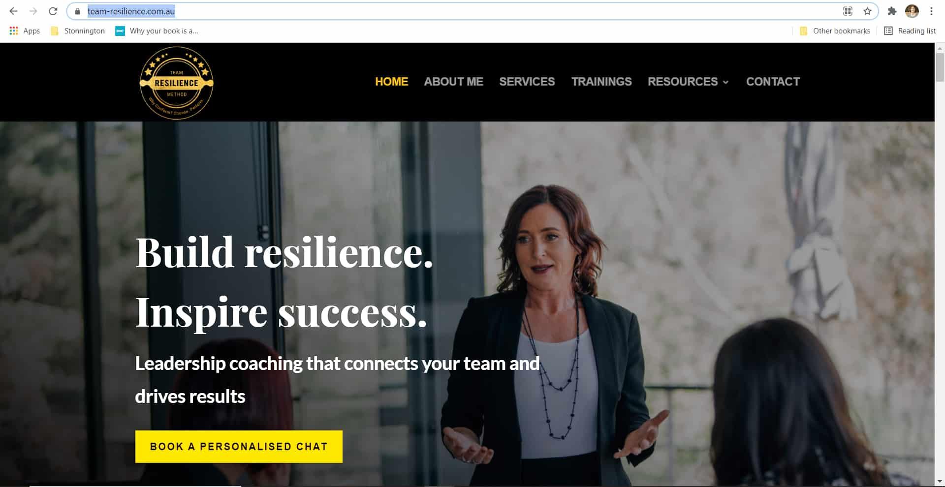 Team Resilience Method - SEO Website Copywriter