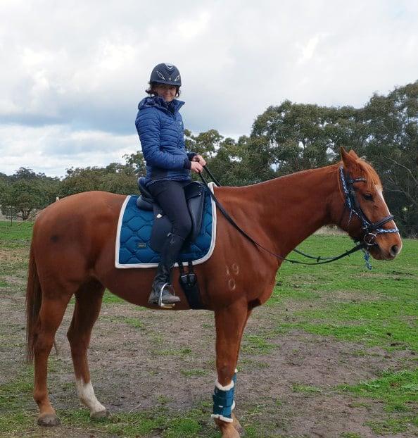 Sarah Walkerden Riding a Horse - The Rural Copywriter